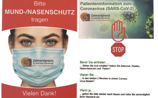 Corona-Hinweis - Bitte Mund-Nasen-Schutz tragen